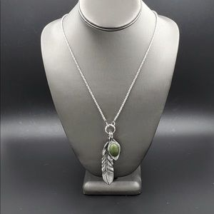 Paparazzi Exclusive Feathers Green Necklace